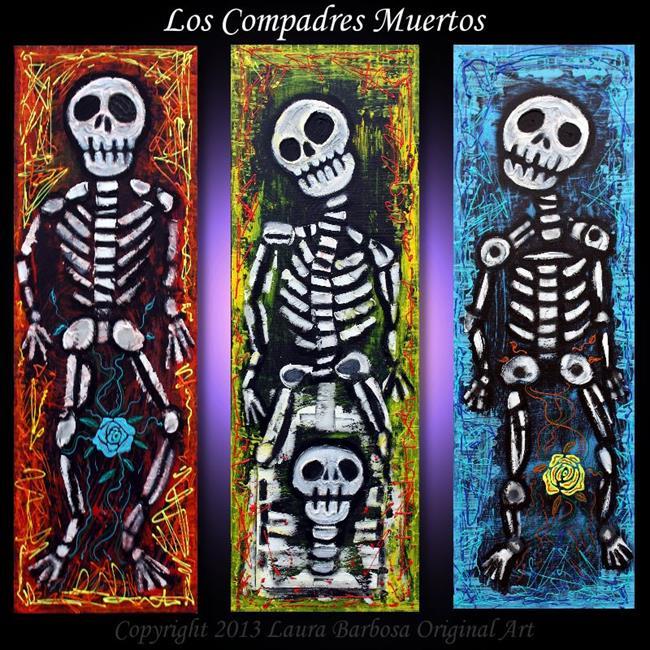 Art: Los Compadres Muertos by Artist Laura Barbosa