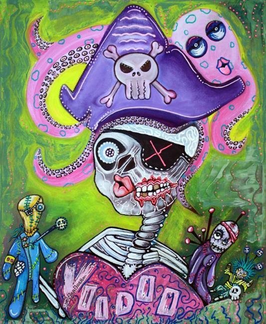 Art: Pirate Voodoo by Artist Laura Barbosa