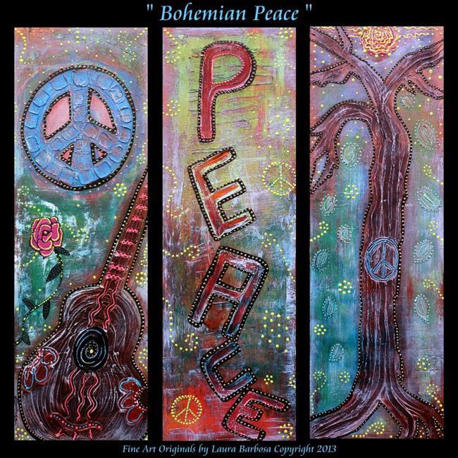 Art: Bohemian Peace by Artist Laura Barbosa