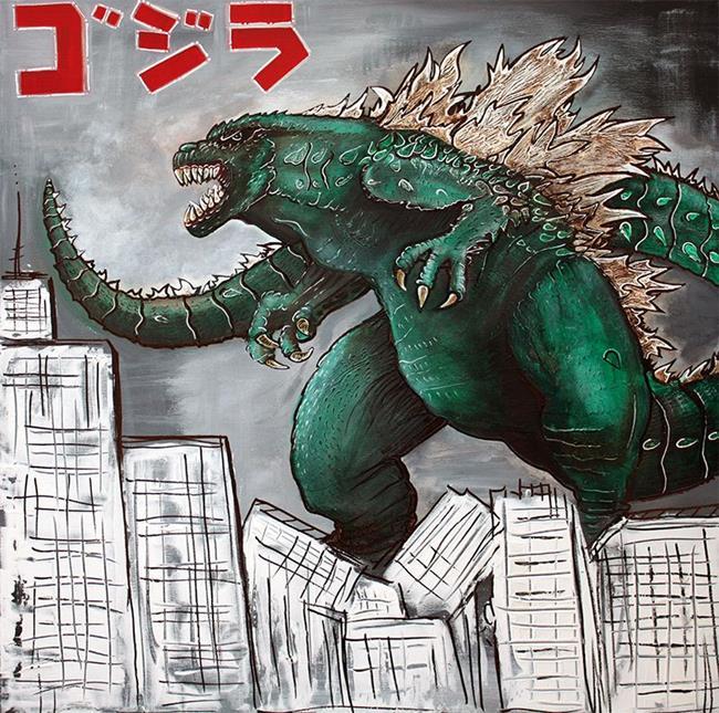 Art: Godzilla Gojira by Artist Laura Barbosa