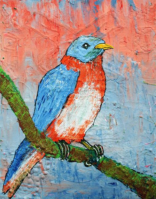 Art: Blue Bird Beauty by Artist Laura Barbosa