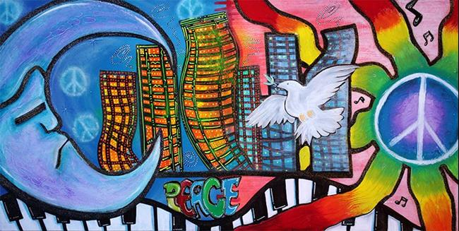 Art: Peaceful City by Artist Laura Barbosa