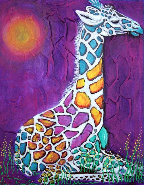 Art: Giraffe of Many Colors by Artist Laura Barbosa