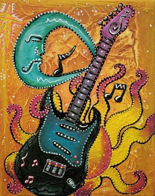 Art: Celestial Guitar by Artist Laura Barbosa
