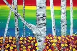 Art: Rainbow Forest by Artist Laura Barbosa