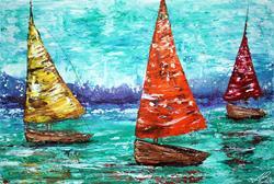 Art: Sailboat Dreams by Artist Laura Barbosa