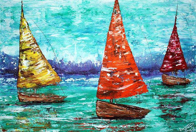 Art: Sailboat Dreams by Artist Laura Barbosa