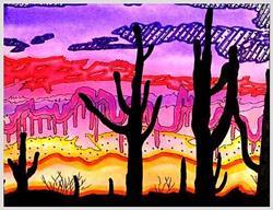 Art: Phoenix Sunset by Artist Doris H. David
