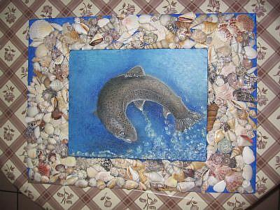 Art: SeaShells'n Trout by Artist Nata ArtistaDonna