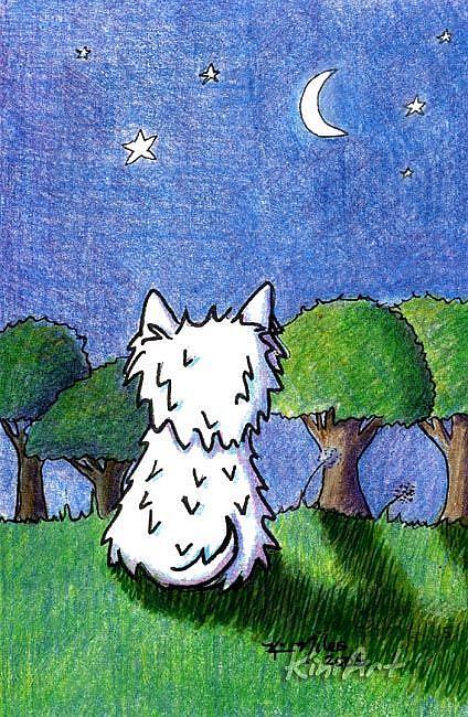 Art: Westie Star Wish by Artist KiniArt