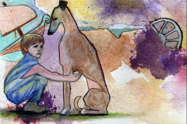 Art: Young Perseus - Sold by Artist Judith A Brody