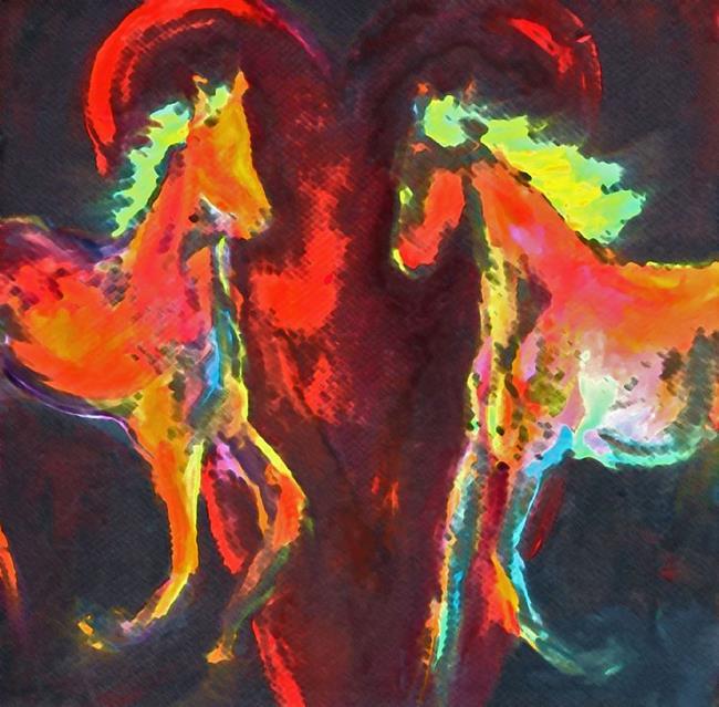 Art: Equine Love by Artist Deborah Sprague