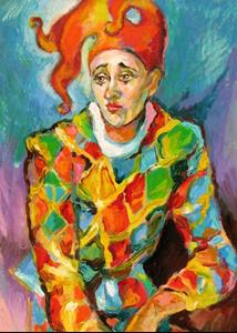 Detail Image for art Melancholy clown