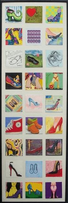 Art: Shoe Quilt by Artist Amie R Gillingham