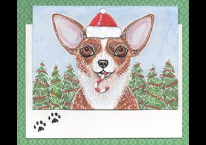Detail Image for art Candy Cane Chih Greeting Card