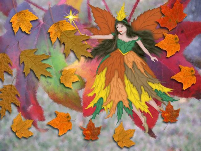 Art: Autumn Fairy by Artist Peggi M Sargent