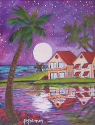 Art: Tropical Nights by Artist Ke Robinson