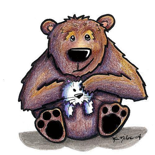 Art: Luff Da Kitty! RIPPED From Nancy Woolmer by Artist KiniArt
