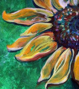 Detail Image for art E-SUNFLOWER-GREEN-ABSTRACT-.jpg