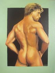 Art: Male nude by Artist Lauren Cole Abrams