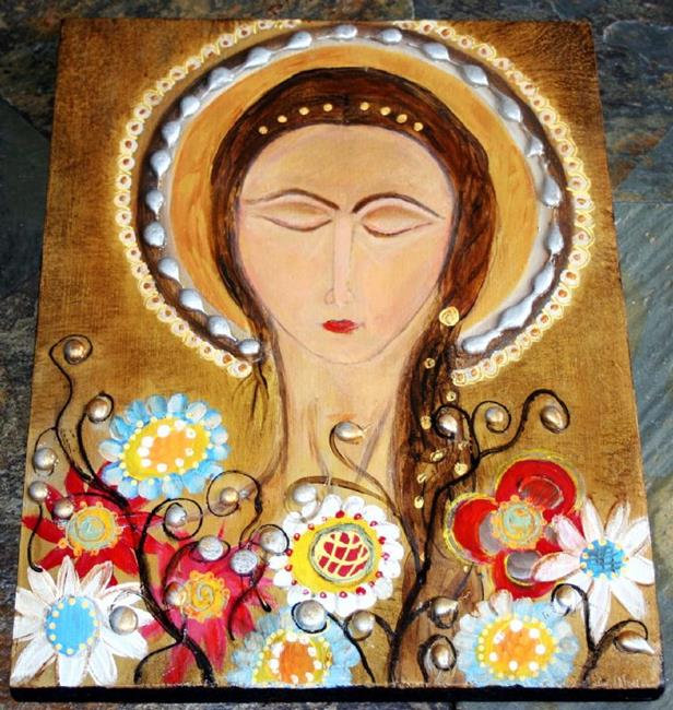 Art: ICON-ANGEL-sold by Artist LUIZA VIZOLI