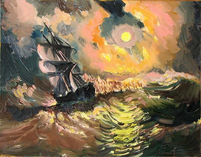 Art: Night Storm by Artist Luda Angel