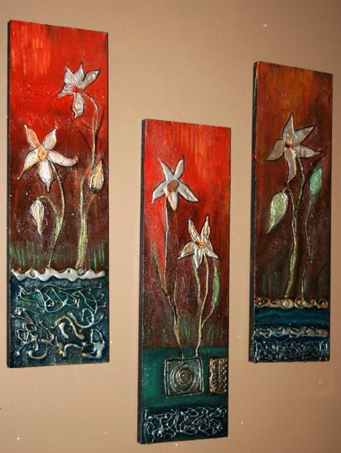 Art: WATER&FLOWERS-sold by Artist LUIZA VIZOLI