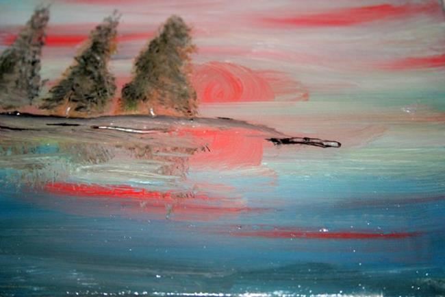 Art: TREES IN THE SUNSET by Artist LUIZA VIZOLI