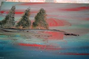 Detail Image for art TREES IN THE SUNSET