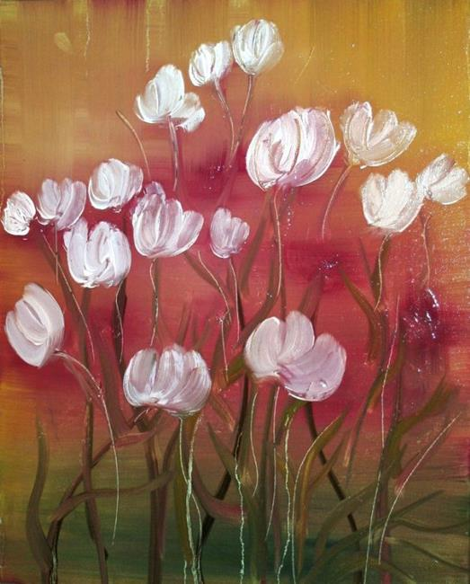 Art: TULIPS IN THE SUNSET by Artist LUIZA VIZOLI