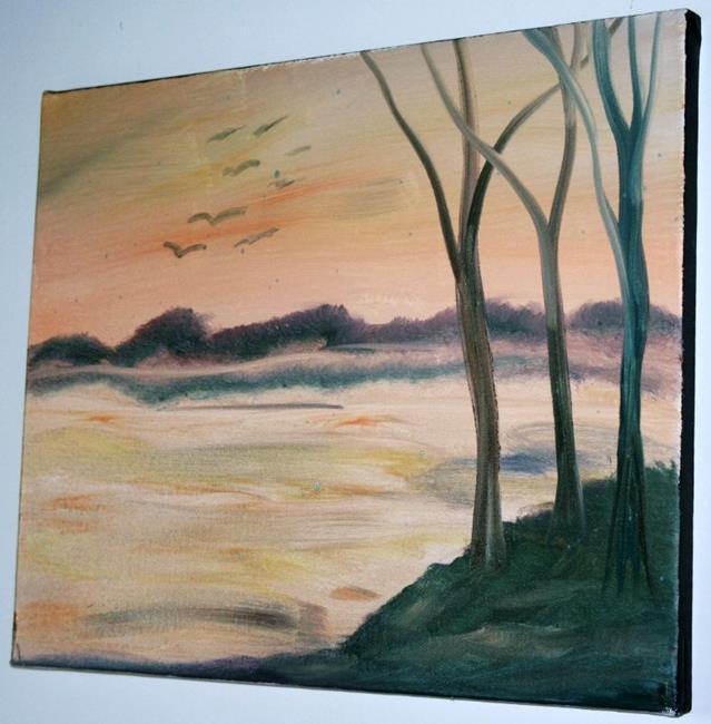 Art: LAKE VIEW- MINNESOTA by Artist LUIZA VIZOLI