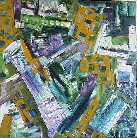 Art: FALLEN CITY (SOLD) by Artist Dawn Hough Sebaugh