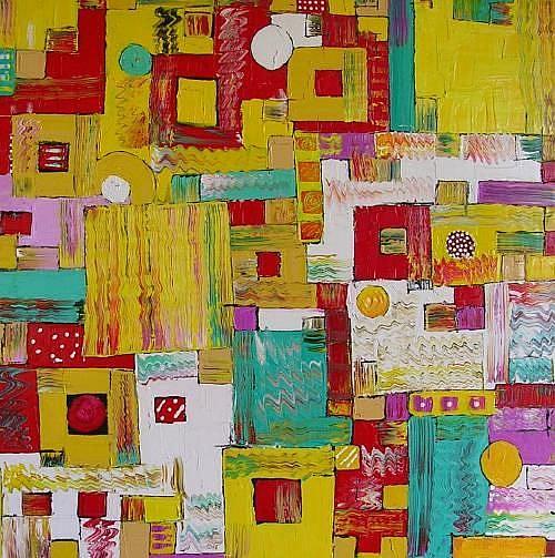 Art: SUBURBIA (SOLD) by Artist Dawn Hough Sebaugh