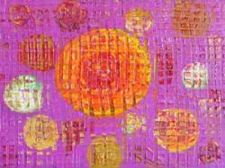 Art: ORANGE MOON (SOLD) by Artist Dawn Hough Sebaugh