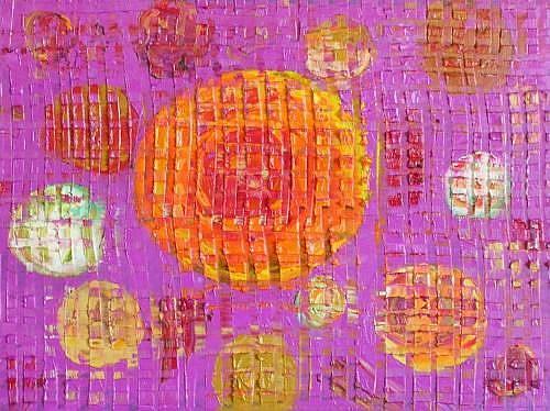 Art: ORANGE MOON (SOLD) by Artist Dawn Hough Sebaugh