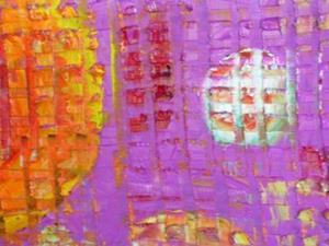 Detail Image for art ORANGE MOON (SOLD)