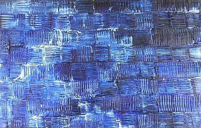 Art: GOT THE BLUES (SOLD) by Artist Dawn Hough Sebaugh