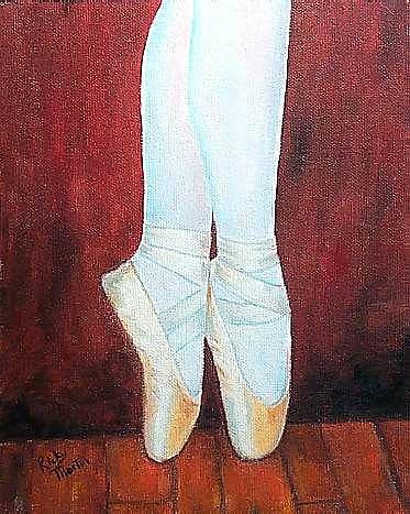 Art: Ballet slippers by Artist Ulrike 'Ricky' Martin