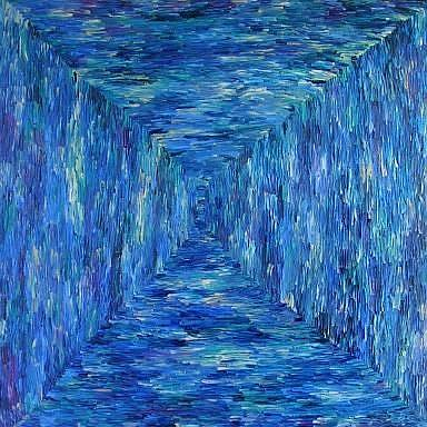 Art: THE LONG HALL by Artist Dawn Hough Sebaugh