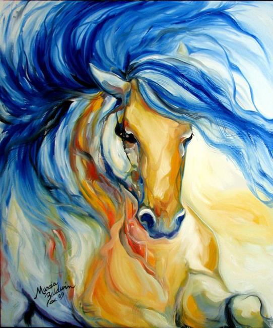Art: ARABIAN EQUINE AURA by Artist Marcia Baldwin