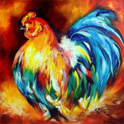 Art: BIG BOY ROOSTER by Artist Marcia Baldwin