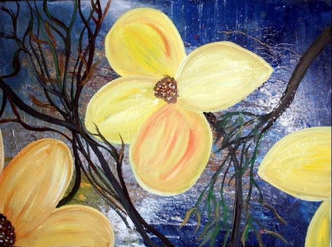 Art: YELLOW FLOWERS, WATER AND TREES-sold by Artist LUIZA VIZOLI