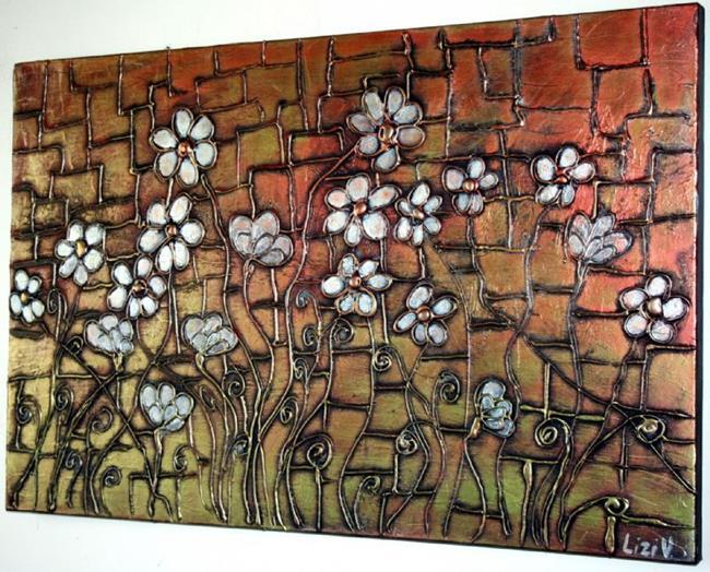Art: MY GARDEN IN THE SUNSET-SOLD by Artist LUIZA VIZOLI