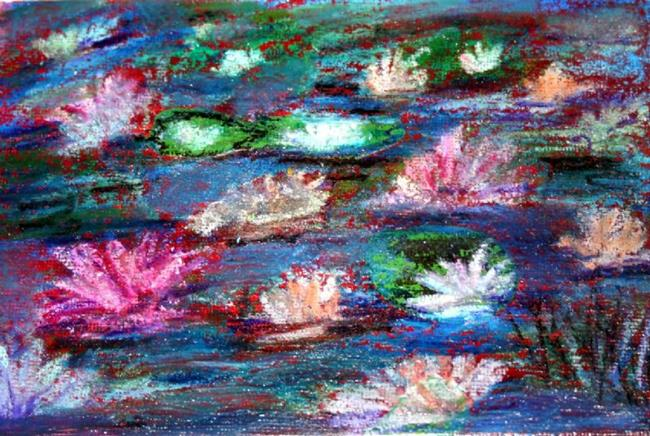 Art: FLOWERS'S POND-sold by Artist LUIZA VIZOLI