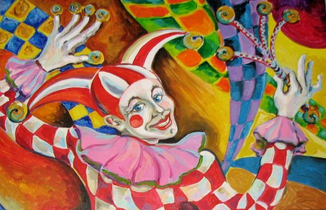 Art: The Clown by Artist Luda Angel
