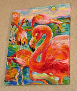 Detail Image for art The etude of Flamingos