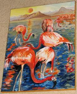 Detail Image for art Etude of flamingos
