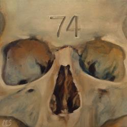 Art: Skull 74 by Artist Christine E. S. Code ~CES~