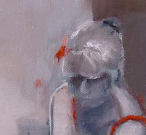 Detail Image for art Contemplation in Red