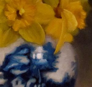 Detail Image for art Daffodils and Chinese Porcelain